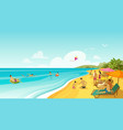 people rest on sea beach vacation travel banner vector image vector image