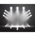Realistic stage lighting background vector image vector image
