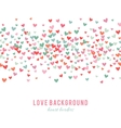 Romantic pink and blue heart background vector image