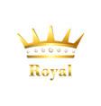 royal crown sign vector image vector image