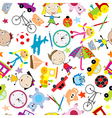Seamless pattern with toys background for kids vector image vector image