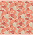 simple orange orchid silhouette seamless pattern vector image vector image