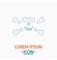 Skull crossbones computer symbol vector image
