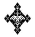 skull sword rhombus vector image vector image