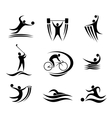 Sports icons and symbols vector image