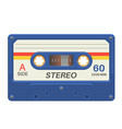 Stereo cassette retro audio tape with music