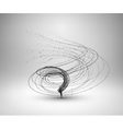 Tornado Swirl with connected line and dots vector image vector image