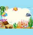 underwater sea creature frame vector image
