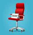 vacancy chair concept vector image