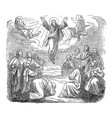 vintage antique religious biblical drawing or vector image vector image