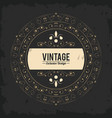 vintage exlusive design luxury golden floral vector image vector image