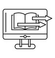 web book transfer icon outline style vector image