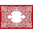 wedding lace ornament vector image
