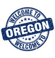 welcome to oregon vector image vector image