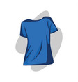 women t-shirt blue vector image vector image