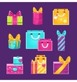 Wrapped Presents Set vector image
