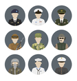 Military avatars set vector image