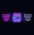 80s party neon sign back to 80s neon vector image vector image