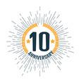 Anniversary 10 vector image vector image