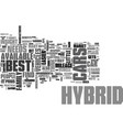 best hybrid cars text word cloud concept vector image vector image