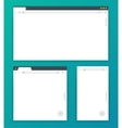 Blank browser windows for different devices of vector image