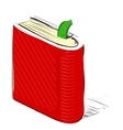 Book note book with bookmark vector image vector image