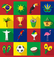 brazil set of cartoon flat icons vector image vector image