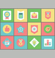 business symbols web icons office and finance vector image
