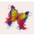 Butterfly made of floral vector | Price: 1 Credit (USD $1)