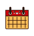 calendar event sheet kawaii cute cartoon vector image