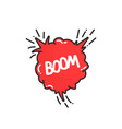 cartoon explosion boom in comic book vector image