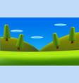cartoon landscape nature background vector image vector image
