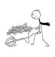 cartoon of man or businessman or politician vector image vector image