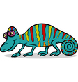 chameleon animal cartoon vector image vector image