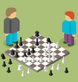 chess isometric game isometric series vector image