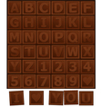 Chocolate alphabet vector image