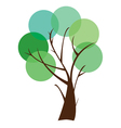circle tree vector image
