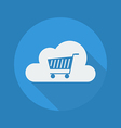 Cloud Computing Flat Icon Cart vector image