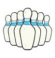 comic cartoon bowling pins vector image vector image
