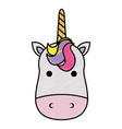 cute fantasy unicorn character vector image