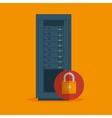 data server security lock icon vector image