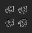 different sockets black glyph icons set on white vector image vector image