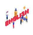 english language - modern colorful isometric vector image vector image