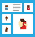 flat icon bitter set of delicious wrapper vector image vector image
