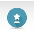 Flat star First place design vector image