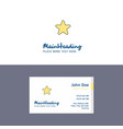 flat star logo and visiting card template vector image vector image