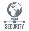 global data security logo simple style vector image