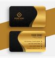 golden black premium wavy business card template vector image vector image