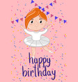 happy birthday kids postcard template vector image vector image