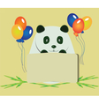Happy Birthday Panda Bear vector image vector image